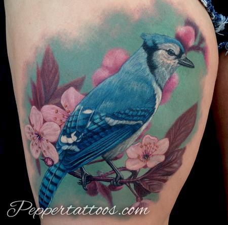 Blue Jay Tattoo Tattoo Design Thumbnail