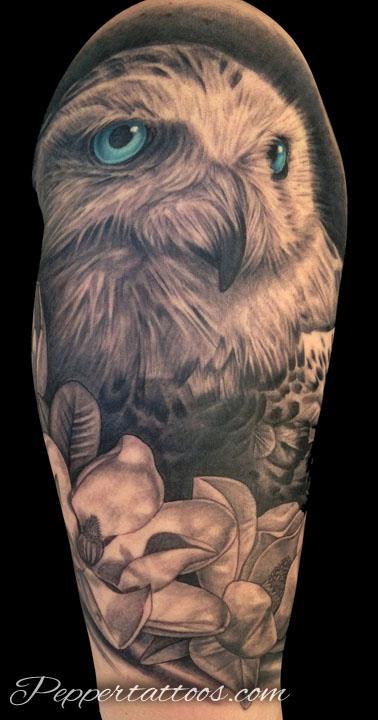 Snowy Owl Tattoo Tattoo Design Thumbnail