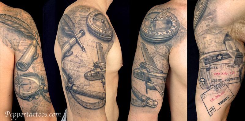 Travel Themed Tattoo Tattoo Design Thumbnail
